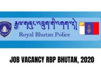 Royal Bhutan Police vacancy 2020