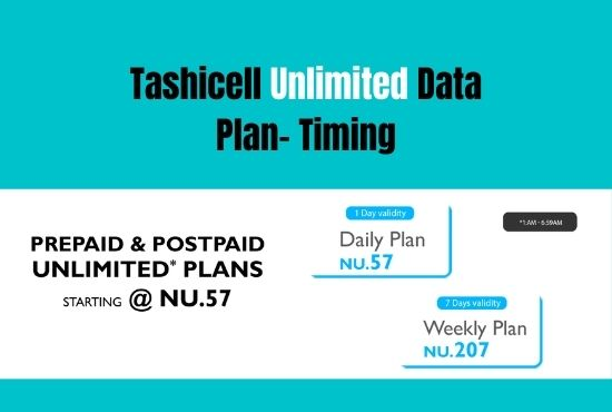 Tashicell Unlimited Data Plan